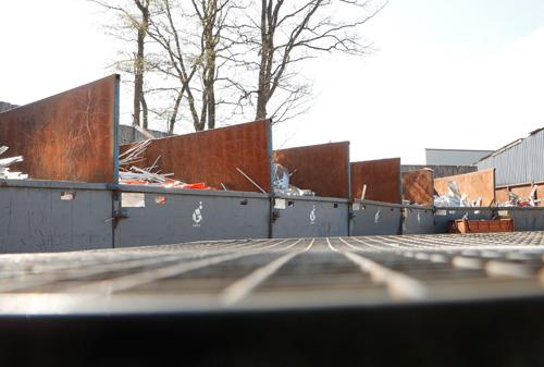 Schrott und Metalle auf dem Wertstoffhof der Götz GmbH